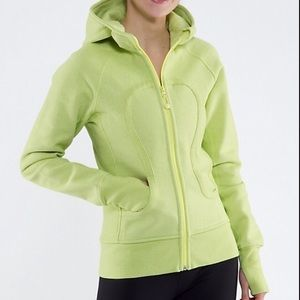 Lululemon yellow green scuba hoodie jacket